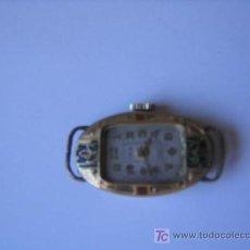 Relojes de pulsera: RELOJ ART DECO CON ESMALTES. CHAPADO EN ORO.IRA. 10 RUBIS. SWISS. SUIZO. FUNCIONANDO.. Lote 27058070