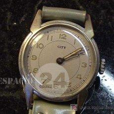 Relojes de pulsera: ANTIGUO RELOJ MARCA CITY CORREA ORIGINAL AÑOS 20 SWISSE MADE - FUNCIONA PERFECTAMENTE.. Lote 221606641