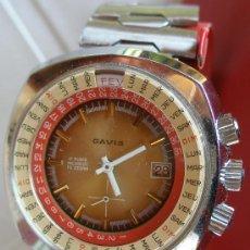 Relojes de pulsera: RELOJ GAVIS - 17 RUBIS - INCABLOC - FE 233/69 - SEÑALA FECHA, DIA MES, DIA SEMANA Y MES. Lote 54990796