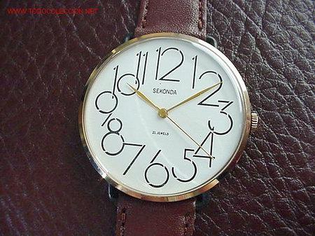 af16fe8488c8 Relojes de pulsera  MADE IN CCCP POLJOT - SECONDA EXTRAVAGANTE NUMEROS  GRANDES -ORIGINAL-
