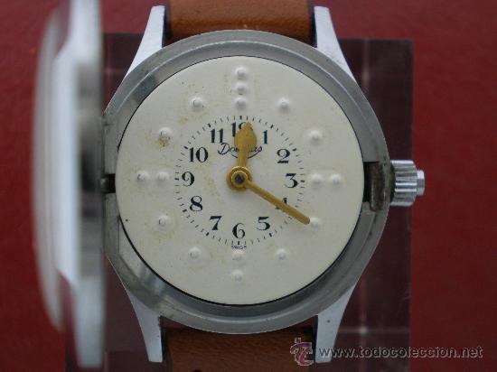 Relojes de pulsera: Curioso reloj para ciegos con esfera braille. - Foto 2 - 26386876