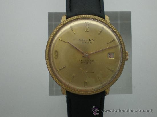 ORIGINAL VINTAGE CAUNY CALENDARIO AÑOS 60. (Relojes - Pulsera Carga Manual)