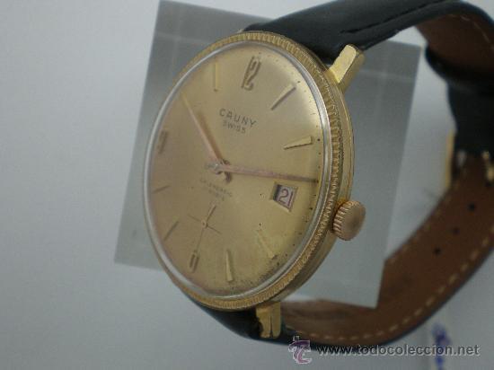 Relojes de pulsera: Original Vintage CAUNY Calendario Años 60. - Foto 3 - 26624028