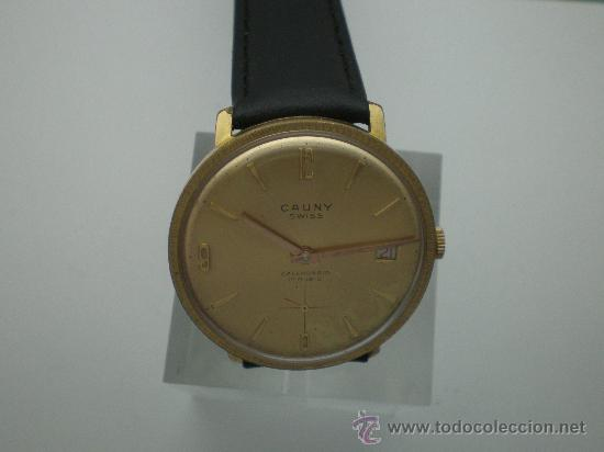 Relojes de pulsera: Original Vintage CAUNY Calendario Años 60. - Foto 5 - 26624028