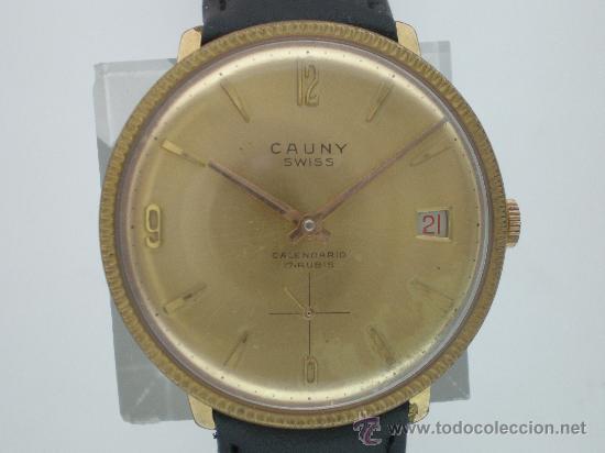 Relojes de pulsera: Original Vintage CAUNY Calendario Años 60. - Foto 6 - 26624028