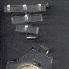 Relojes de pulsera: AGUJA IMPERDIBLE RELOJ SOLAPA PLATA FUNCIONANDO. Lote 13093395