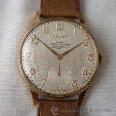 Relojes de pulsera: RELOJ CAUNY PRIMA GRANDE TEXTURADO CUERDA. Lote 26443629