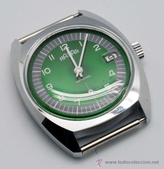 RELOJ CADETE RADAR NIQUELADO CON CALENDARIO Y SEGUNDERO A LAS 6 AÑOS 60 (Relojes - Pulsera Carga Manual)
