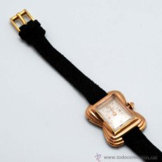 Relojes de pulsera: RELOJ SEÑORA STUDIO 17 RUBIES ESTILO ART DECO CUERDA AÑOS 50 NO FUNCIONA. Lote 177562785