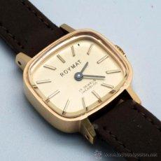 Relojes de pulsera: RELOJ SEÑORA ROYMAT 17 JEWELS INCABLOC CUERDA AÑOS 60. Lote 43971407