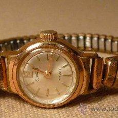 Relojes de pulsera: ANTIGUO RELOJ PULSERA, DE DAMA, A CUERDA, 1950S, DUWARD, 17 RUBIES. Lote 22457392