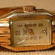 Relojes de pulsera: ANTIGUO RELOJ PULSERA, RIGIDA, DE DAMA, A CUERDA, MITHRA ANCRE, 17 RUBIES, ORO PLAQUE 10. Lote 22457576
