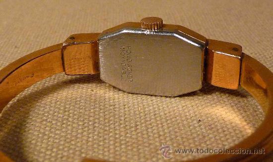 Relojes de pulsera: ANTIGUO RELOJ PULSERA, RIGIDA, DE DAMA, A CUERDA, MITHRA ANCRE, 17 RUBIES, ORO PLAQUE 10 - Foto 3 - 22457576