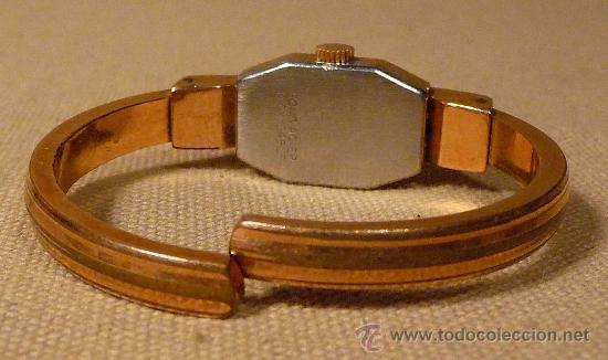 Relojes de pulsera: ANTIGUO RELOJ PULSERA, RIGIDA, DE DAMA, A CUERDA, MITHRA ANCRE, 17 RUBIES, ORO PLAQUE 10 - Foto 4 - 22457576
