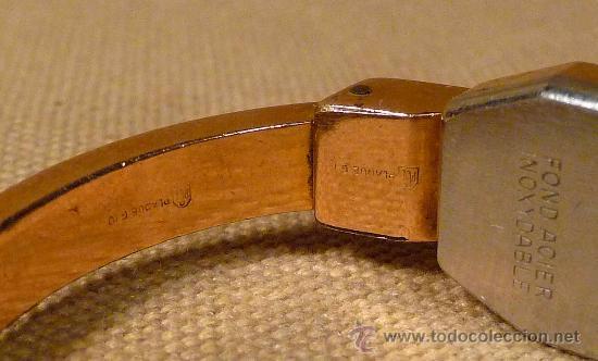 Relojes de pulsera: ANTIGUO RELOJ PULSERA, RIGIDA, DE DAMA, A CUERDA, MITHRA ANCRE, 17 RUBIES, ORO PLAQUE 10 - Foto 5 - 22457576