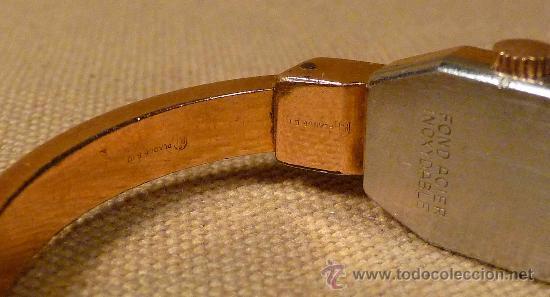 Relojes de pulsera: ANTIGUO RELOJ PULSERA, RIGIDA, DE DAMA, A CUERDA, MITHRA ANCRE, 17 RUBIES, ORO PLAQUE 10 - Foto 6 - 22457576