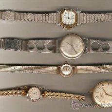 Relojes de pulsera: TRES RELOJES DE SEÑORA Y DOS DE CABALLERO ADMITO OFERTAS. Lote 33068200