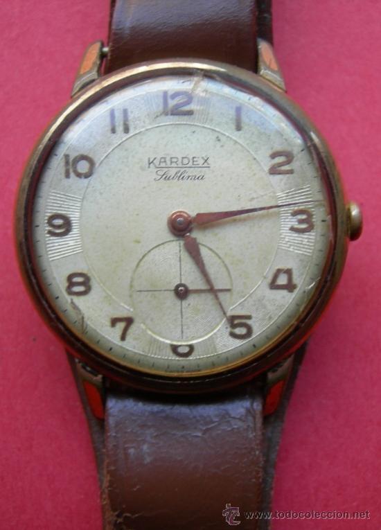 RELOJ ANTIGUO - KARDEX - SUBLIMA - FUNCIONA (Relojes - Pulsera Carga Manual)