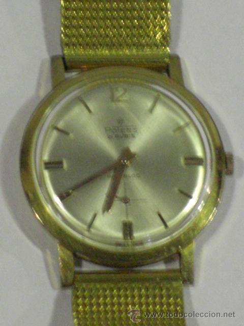 Relojes de pulsera: Reloj de pulsera. Potens. Oro de 18 k. Peso total del reloj 53,1 gramos. - Foto 3 - 215758187