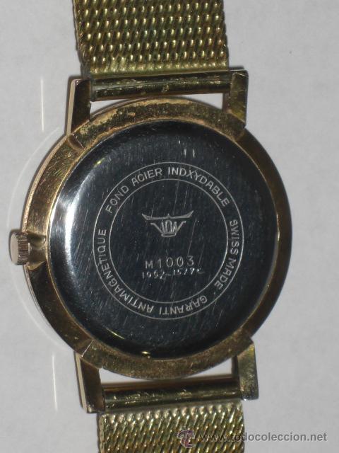 Relojes de pulsera: Reloj de pulsera. Potens. Oro de 18 k. Peso total del reloj 53,1 gramos. - Foto 5 - 215758187