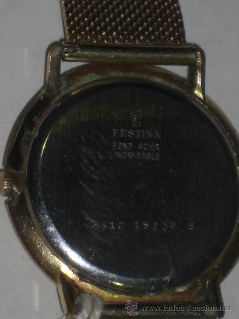 Relojes de pulsera: Reloj de pulsera. Festina. Oro de 18 k. Peso total del reloj 54,3 gramos. - Foto 6 - 26829856