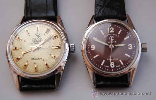 reloj 6ee7b 9f7e8 Preciosa pareja de relojes suizos. años 60. fav - Vendido en ...