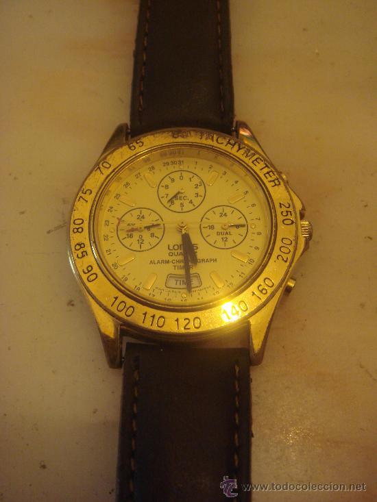 2f0442d6b4e5 Reloj de pulsera Lorus Quartz alarma crono enchapado en oro diam. 39 mm