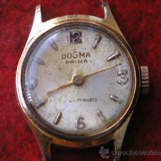 Relojes de pulsera: RELOJ DOGMA PRIMA ANTIGUO, CAJA LAMINADA ORO 24 K 10 MICRAS. Lote 28476797