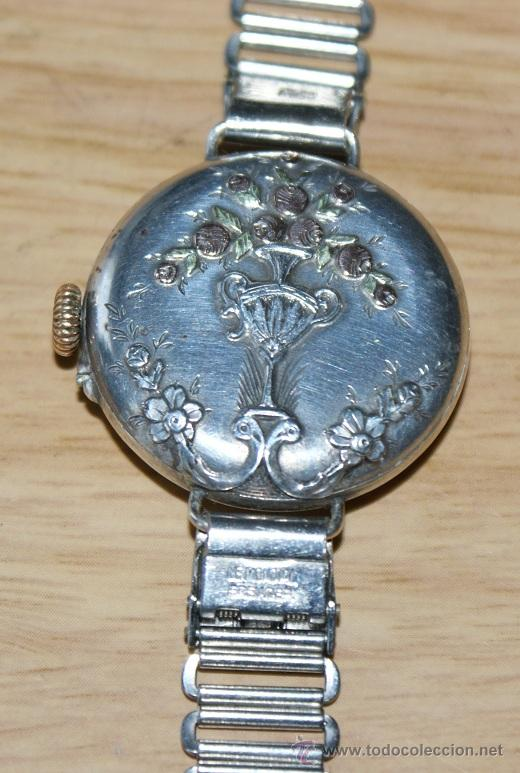 Relojes de pulsera: precioso reloj en plata - Foto 3 - 29766009