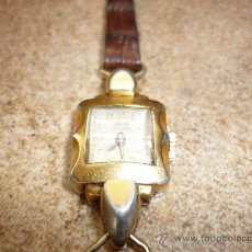 Relojes de pulsera: ESPECTACULAR RELOJ DE SEÑORA TITAN 15 RUBIS CORREA AUTENTICA PIEL DE COCODRILO AÑOS 60-70 NºS 45429. Lote 30001155