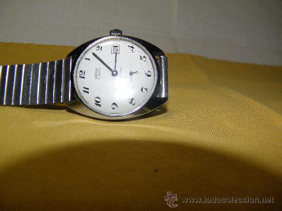 Relojes de pulsera: ANTIGUO VERNI - AÑOS 60. 17 RUBIS. 37 MM. - FUNCIONANDO. FOTOS VARIAS. - Foto 4 - 30055718