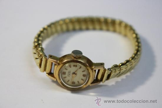 RELOJ SUIZO DE SEÑORA ORFINA CUERDA MANUAL CHAPADO ORO CAJA 15MM - FUNCIONANDO (Relojes - Pulsera Carga Manual)