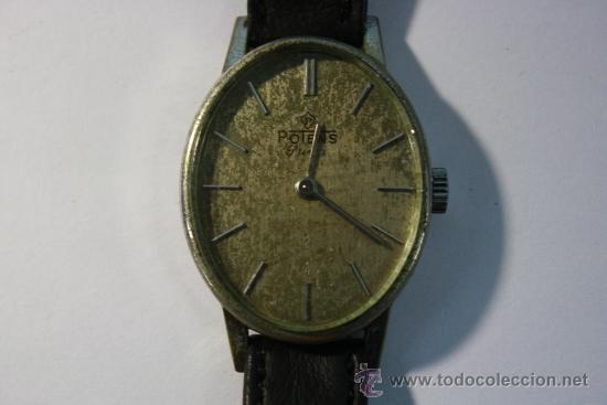 RELOJ SUIZO DE SEÑORA OVALADO POTENS PRIMA - FUNCIONANDO (Relojes - Pulsera Carga Manual)