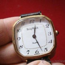 Relojes de pulsera: AUTENTICO RELOJ SUIZO REIG WATCH DE CUERDA ESTILO VINTAGE CLASICO - FUNCIONANDO PERFECTAMENTE. Lote 31661122