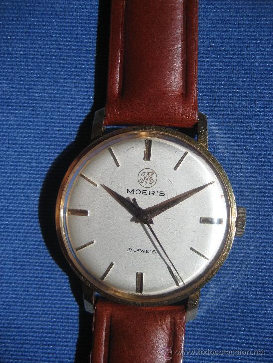 RELOJ MOERIS SUIZO PARA CADETE FUNCIONA CORRECTAMENTE (Relojes - Pulsera Carga Manual)