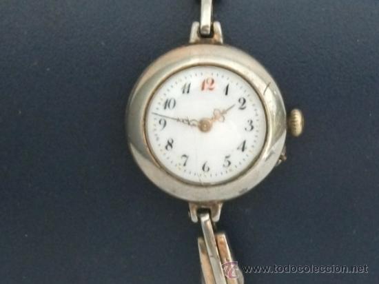 ANTIGUO Y RARO RELOJ DE PULSERA DE DAMA - ESFERA PORCELANA - AÑOS 30 COMPLETO,PARA REPARAR (Relojes - Pulsera Carga Manual)