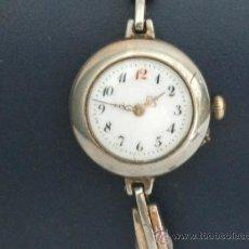 Relojes de pulsera: ANTIGUO Y RARO RELOJ DE PULSERA DE DAMA - ESFERA PORCELANA - AÑOS 30 COMPLETO,PARA REPARAR. Lote 32206708