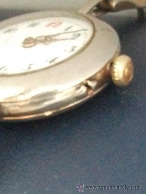 Relojes de pulsera: Antiguo y raro Reloj de Pulsera de Dama - Esfera Porcelana - Años 30 Completo,para reparar - Foto 8 - 32206708