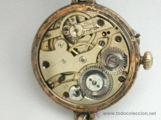 Relojes de pulsera: Antiguo y raro Reloj de Pulsera de Dama - Esfera Porcelana - Años 30 Completo,para reparar - Foto 6 - 32206708