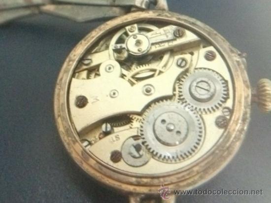 Relojes de pulsera: Antiguo y raro Reloj de Pulsera de Dama - Esfera Porcelana - Años 30 Completo,para reparar - Foto 11 - 32206708