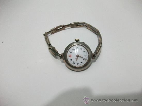 Relojes de pulsera: Antiguo y raro Reloj de Pulsera de Dama - Esfera Porcelana - Años 30 Completo,para reparar - Foto 7 - 32206708