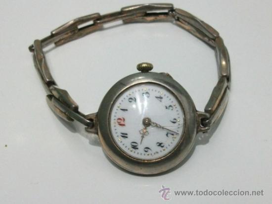 Relojes de pulsera: Antiguo y raro Reloj de Pulsera de Dama - Esfera Porcelana - Años 30 Completo,para reparar - Foto 3 - 32206708