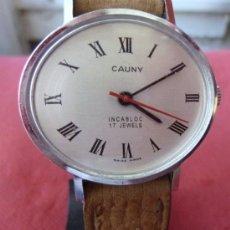 Relojes de pulsera: RELOJ CAUNY VINTAGE. Lote 32269199
