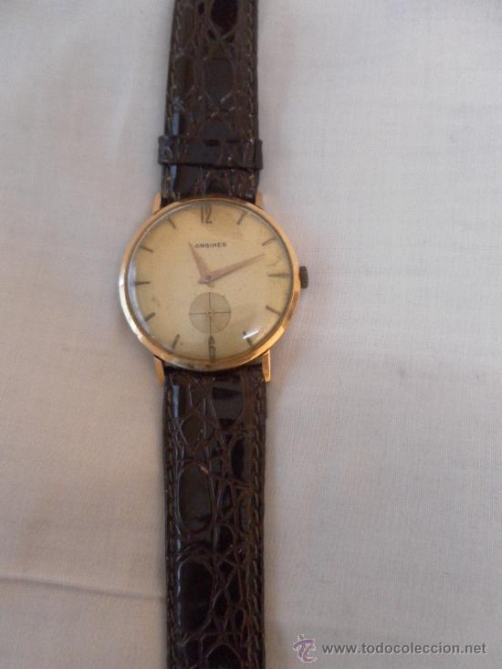 Relojes de pulsera: Antiguo reloj. De pulsera. Longines. Oro de 18 Quilates. En estado de marcha. - Foto 3 - 32342843