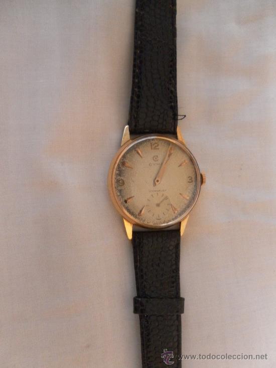 Relojes de pulsera: Antiguo reloj de pulsera. Cyma.. Oro de 18 Quilates. En estado de marcha. - Foto 3 - 32343000