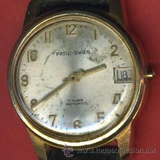 Relojes de pulsera: RELOJ PULSERA , CARGA MANUAL , CHAPADO EN ORO, PATIC SWISS 1958 , ORIGINAL.. Lote 33387244