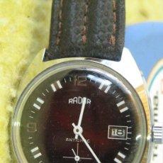Relojes de pulsera: RELOJ CABALLERO RADAR NIQUELADO AÑOS 60. Lote 107141151