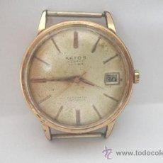 Relojes de pulsera: RELOJ DE PULSERA AETOS -ENCHAPADO G10 - 25 RUBIS GENEVA - CALENDARIO - PARA REVISAR. Lote 35072207