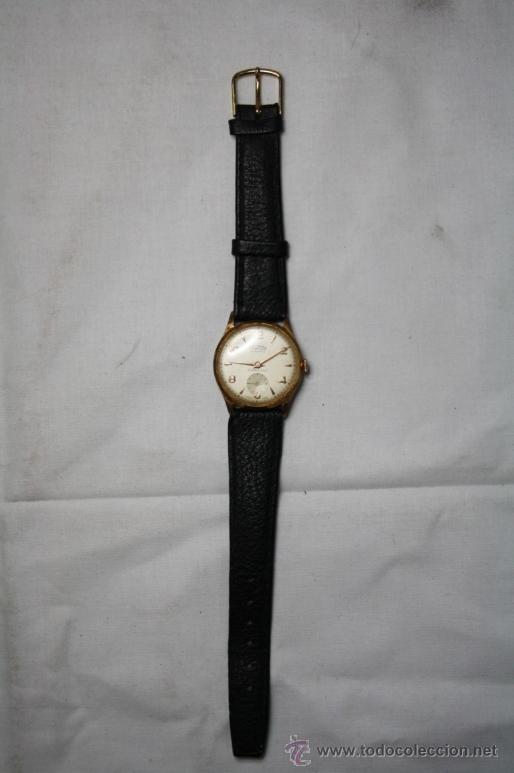 Relojes de pulsera: Reloj Arcadia Centenario Movimiento a Cuerda Chapado Oro 10 Micrones - Funcionando - Foto 2 - 35411708