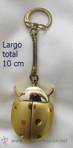 RELOJ DE CUERDA ANTIGUO EN LLAVERO MARIQUITA RARO (Relojes - Pulsera Carga Manual)
